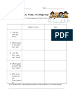 oh what a thanksgiving  worksheet
