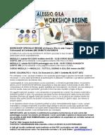 Workshop Resine Alessio Gila 03/12/2016