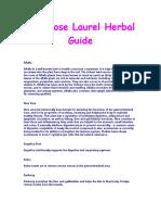 The Rose Laurel Herbal Guide