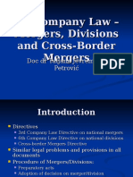 EU Company Law-Mergers, Divisions and Cross-Border Mergers.ppt