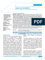 HBV AND HCV PATIENTS; PSYCHIATRIC COMORBIDITY AND COPING STRATEGIES