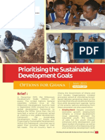 Prioritising the Sustainable Development Goals Policy Brief 2015