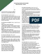 folheto de cantos - missa 27-11-2016