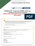 12ª Olimpíada Brasileira de Matemática Das Escolas Públicas - OBMEP