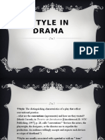 Style in Drama12