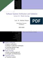 SSVV 10 Model Checking