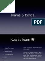 Teams Topics Saturday Class