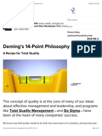 Deming's 14-Point Philosophy - Strategy Skills From MindTools.com
