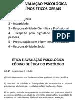 Aula 4 Ética e Avaliação Psicológica