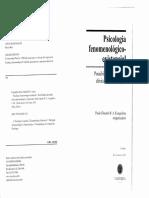 EVANGELISTA, P. E. R. a. Psicologia Fenomenológica Existencial Possibilidades Da Atitude Clínica Fenomenológica