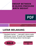 Relationship Between Childhood Blood Pressure and Birth Weight