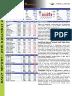 Premarket MarketPreview NirmalBang 24.11.16