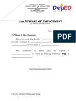 CerificateOfEmployment DEPED PErsonnel_2014 (1) (1)
