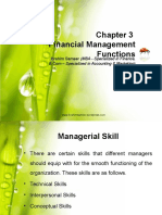 Chapter 3 Financial Management Functions