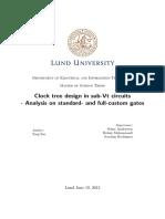 Clock Tree Design in Sub-Vt Circuits