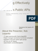 Working Effectively With Oracle Public APIs