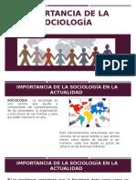 Importancia de La Sociologia
