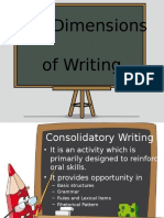 TWO DIMENSIONS IN WRITING