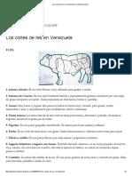 Los Cortes de Res en Venezuela _ Enlasdosorillas2