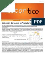 2013 OCT - Seleccion de Cables en Variadores de Velocidad Para Motores