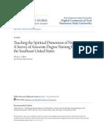 Teaching the Spiritual Dimension of Nursing Care_ a Survey of Ass