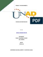 TRABAJO FASE1 PLANIFICACION Tecnicas de La Investigacion