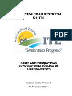 Bases Administrativas Convocatoria Publica