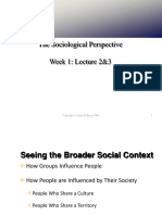 Sociology lecture 2 HM321
