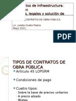 Tipos de Contrato de Obra Pública JOP