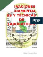 4º Informe de Lab. de Química - Operaciones Fundamentales y Técnicas de Laboratorio