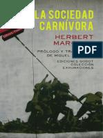 Marcuse Herbert - Sociedad Carnivora