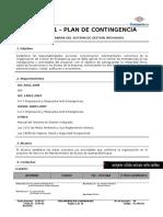4.2 Plan de Contingencia