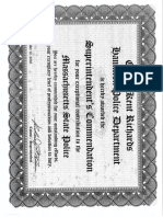 Hamilton Police Officer Kent Richards Massachusetts State Police Commendation
