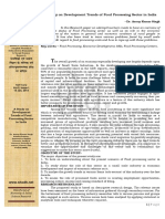 4. a Study on Development Trends of Food Processing Sector in India - Dr. Anoop Kumar Singh Vol-5-Issue-1