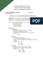 Analisis de La Cuenta Instrumentos Financieros