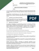 Especificaciones Tecnicas Proyecto vial en el Cusco