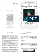 Anthony Isaiah Green Funeral Program