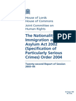 Nationality and Immigration Act 2002