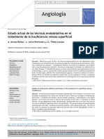 Estado Actual de Las t Cnicas Endoablativas en El Tratamiento de La Insuficiencia Venosa Superficial 2016 Angiolog A