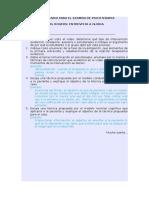 Cuestionario Para El Examen de Psicoterapia