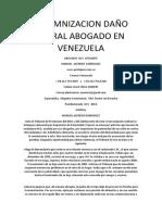 Indemnizacion Daño Moral Abogado en Venezuela