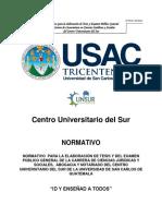 Normativo Tesis Derecho Anexo No. 1 Acta 09 2013
