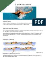 Guía Básica Para Practicar Natación