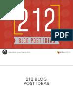 212 Blog Post Ideas 1