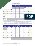 Calendario 2016 Pequeno