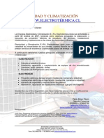 Electrotermica Carta de Presentacion Electricidad y Climatizacion Eirl Electrotermica 795843