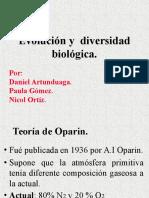 Evolución y  diversidad biológica..ppt