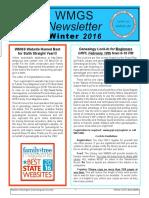 WMGS Winter 2016-17 Newsletter
