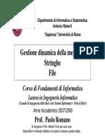 GestioneDinamicaDellaMemoria Stringhe File