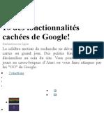 10 des fonctionnalités cachées de Google.docx
